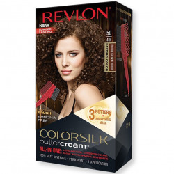 REVLON - Coloration Permanente Butter Cream COLORSILK - 50 Brun Moyen Naturel