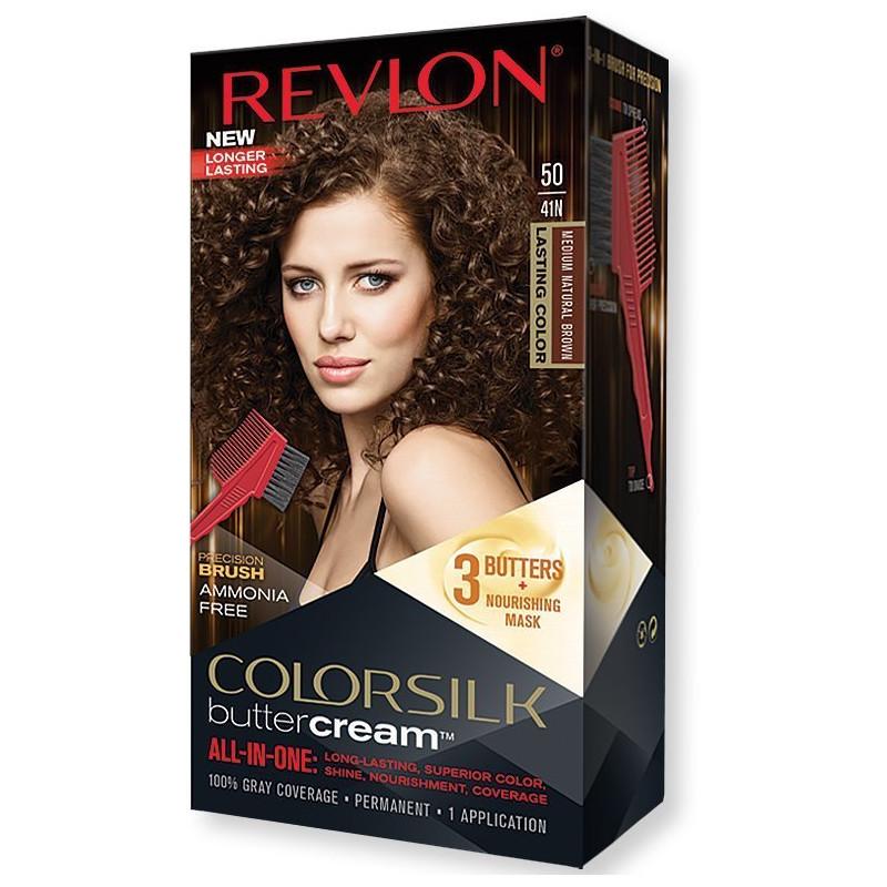 REVLON - Coloration Permanente Butter Cream COLORSILK - 50 Brun Moyen Naturel