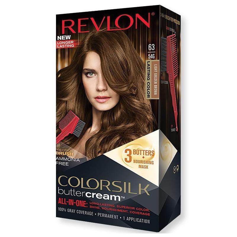 REVLON - Coloration Permanente Butter Cream COLORSILK - 63 Brun Doré Clair