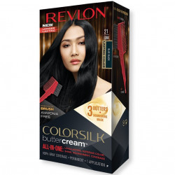 REVLON - Coloration Permanente Butter Cream COLORSILK - 21 Bleu Noir