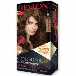 REVLON - Coloration Permanente Butter Cream COLORSILK - 53 Brun Doré Moyen