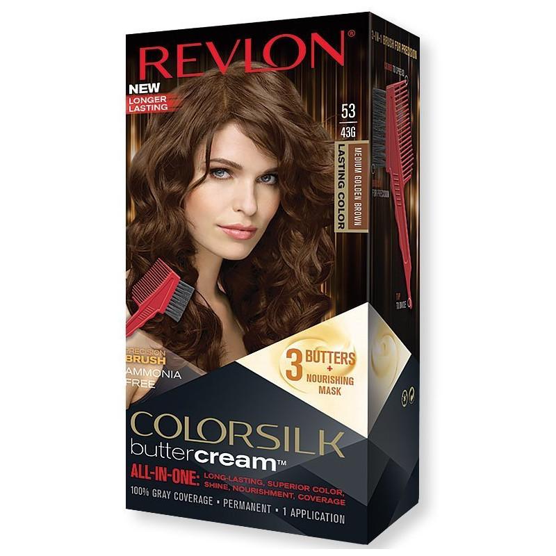 REVLON - Coloration Permanente Butter Cream COLORSILK - 53 Brun Doré Moyen