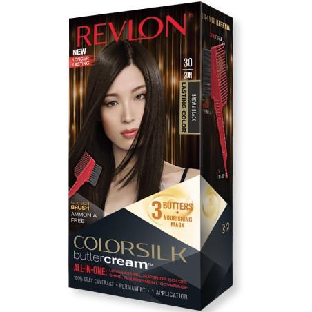REVLON - Coloration Permanente Butter Cream COLORSILK - 30 Marron Noir
