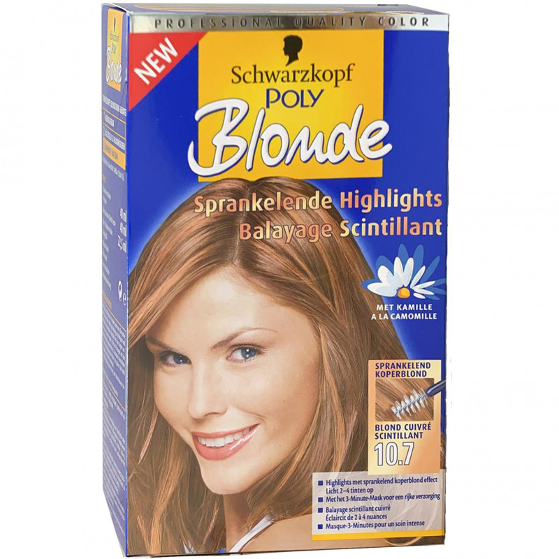 Schwarzkopf - Coloration POLY BLOND - 10.7 Blond Cuivré