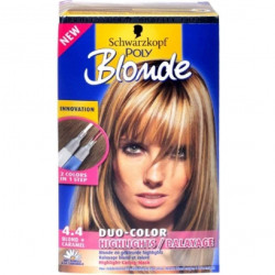 Schwarzkopf - Coloration POLY BLOND DUO-COLOR - 4.4 Blond+Caramel