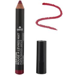 Avril - Crayon Rouge à Lèvres Mat Certifié Bio - Grenadine N° 790