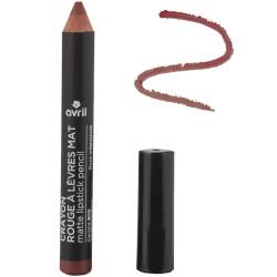 Avril - Crayon Rouge à Lèvres Mat Certifié Bio - Rose Crépuscule N° 792