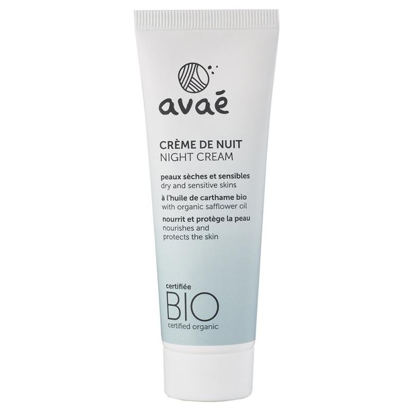 Avaé - Crème De Nuit Certifié Bio 50ml - Peaux Sèches & Sensibles N°10120
