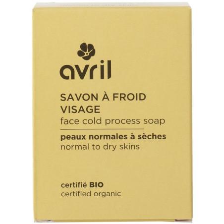 Avril - Savon à Froid Visage Certifié Bio 100g - Peaux Normales à Sèches N°936