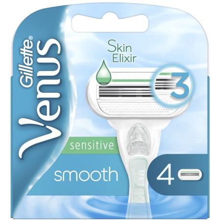 Gillette - 4 Recharges VENUS SMOOTH SENSITIVE