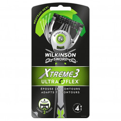 Wilkinson - Lot de 4 Rasoirs Jetables XTREME 3 ULTRA FLEX