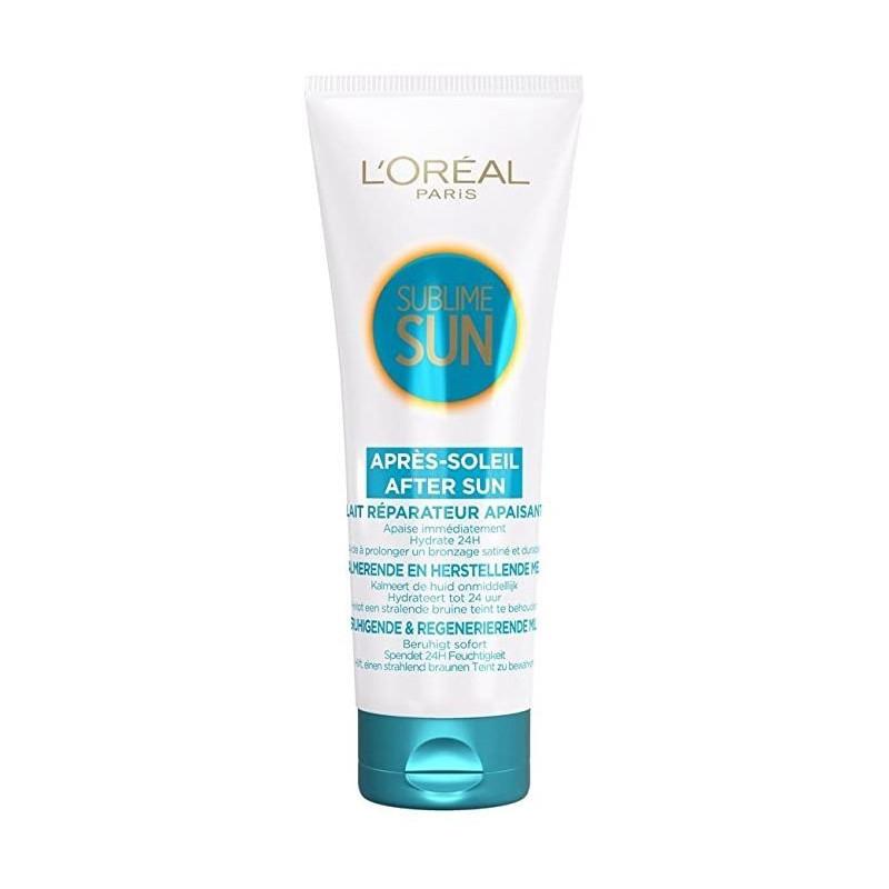 L'Oréal Paris - Lait Réparateur Apaisant  Après-Soleil SUBLIME SUN - Visage et Corps 200 ml